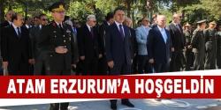 Atatürk'ün Erzurum'a gelişinin 96.yıl dnümü kutlandı