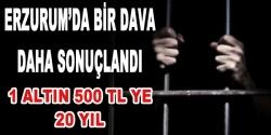Erzurum'da bir dava daha sonuçlandı
