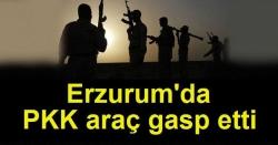 Tekman'da PKK'a araç gasp etti!