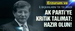 Davutoğlu'ndan kritik talimat: