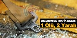 Trafik kazası: 1 ölü, 2 yaralı!