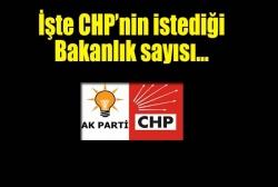 CHP'nin istediği bakanlık sayısı