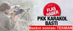 Erzurum'da karakola baskın!