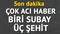 Şırnak'tan çok acı haber 3 şehit!