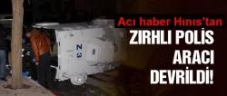 Zırhlı polis aracı şarampole devrildi: 4 yaralı!
