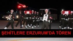 Şehitler Erzurum'da uğurlandı!