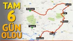 Tunceli-Erzincan yolu 6 gündür kapalı!