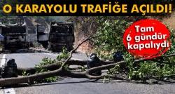 Tunceli-Erzincan karayolu trafiğe açıldı!