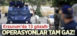 Erzurum'da PKK'ya operasyon!