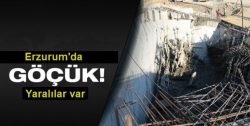 Erzurum'da göçük: 2 yaralı!