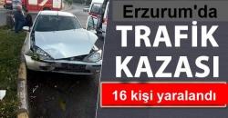 Erzurum'da iki kaza: 16 yaralı