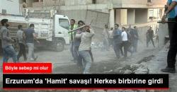 Erzurum'da İnşaata 'Hamit' Yazısı Kavgası