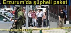 Erzurum'da şüpheli paket patlatıldı!