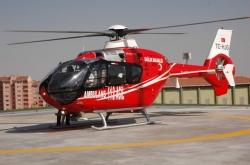 Erzurum'da Ambülans helikopter can kurtarıyor