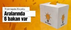 Erken seçimde AK Parti'de 26 isim yolcu