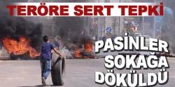 Erzurum'da vatandaşlardan teröre tepki