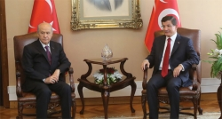 Davutoğlu ve Bahçeli'nin görüşmesi sona erdi!