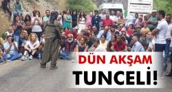 Tunceli'de yol kesip propaganda yaptı