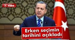 Erdoğan: '1 Kasım'da seçim yapılacak'!