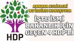 HDP'de 4 isim!
