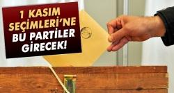 1 Kasım Seçimleri'ne katılacak partiler!