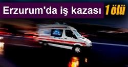 Erzurum'da iş kazası 1 ölü