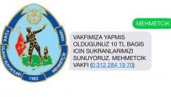 Mehmetçik Vakfı'na bağış yağdı!