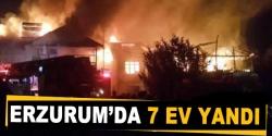 Erzurum'da 7 ev yandı