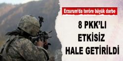 Erzurum'da 8 PKK'lı etkisiz hale getirildi!