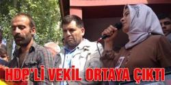 HDP'li vekil Karaçoban'da ortaya çıktı