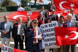 Erzurum'da onlarda terörü kınadı!