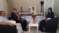 Harp Malulü Gaziler'den başkan Kılıç'a ziyaret