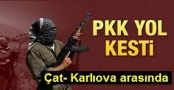 Teröristler Çat-Karlıova karayolunu kesti