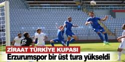 Erzurumspor bir üst tura yükseldi