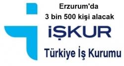 Erzurum'da 3 bin 500 kişi işe alınacak!