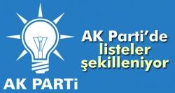 AK Parti'de listeler şekilleniyor!