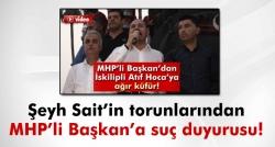 MHP'li Başkan'a suç duyurusu