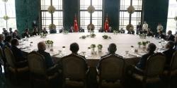Erdoğan yön genel kurul üyeleri ve rektörlerle buluştu