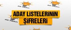 AK Parti aday listelerinin şifreleri!