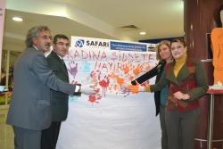 Erzurum'da 'Kadına yönelik şiddetin ortadan kaldırılması için