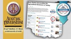 Ziraat Fakültesi US News sıralamasında zirvede