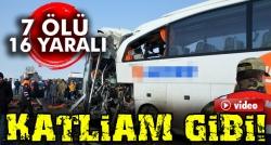 Iğdır'da iki otobüs kafa kafaya çarpıştı