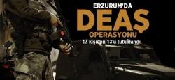 Erzurum'da DEAŞ'cı 13 tutuklama