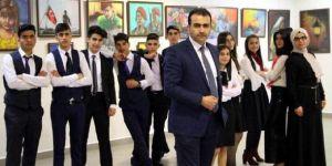 Erzurum'da Liselilerin eserleri büyüledi