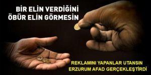 Erzurum Afad'tan 'Utandırmayan Yardım'