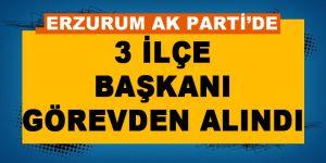 AK Parti'de 3 ilçe başkanı görevden alındı