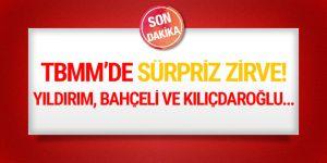 TBMM'de üçlü zirve! Yıldırım, Bahçeli ve Kılıçdaroğlu..