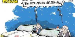 Tepki çeken Erdoğan karikatürü