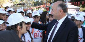 Çocukları Vali Azizoğlu karşıladı
