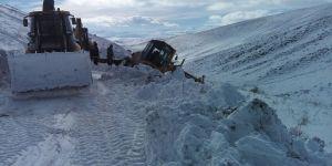 Karla mücadele ekiplerini zor anları